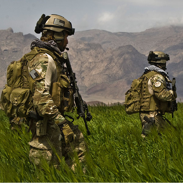 Special operations forces patrol in Afghanistan (U.S. Army photo)