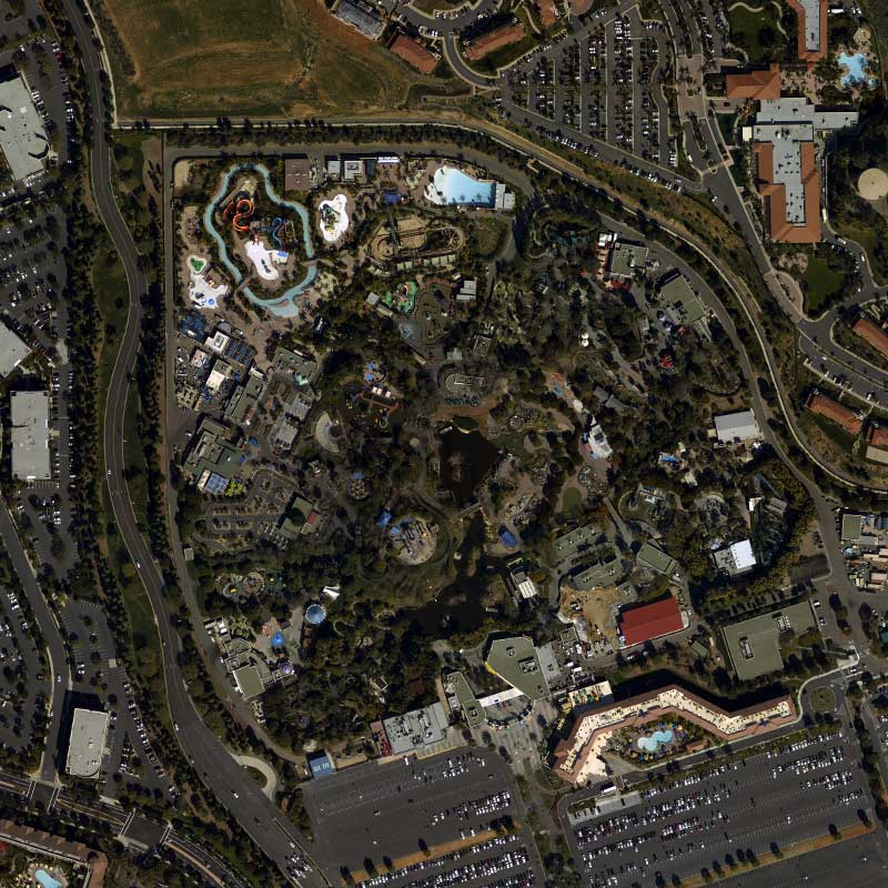Key features in satellite imagery that can drive predictions about economic well-being include the presence of infrastructure investments, like schools, places of worship, roads and cell towers.