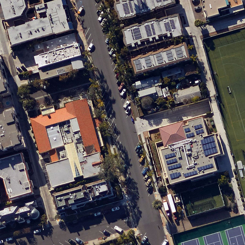 One image in a set of aerial pictures of San Diego, California, taken over months and used in the Chronos Data Science Contest sponsored by Draper and hosted online by Kaggle.