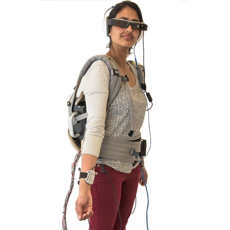 """The isaWear kit's four """"presenters"""" convey information using visual, auditory, tactile, and thermal cues."""