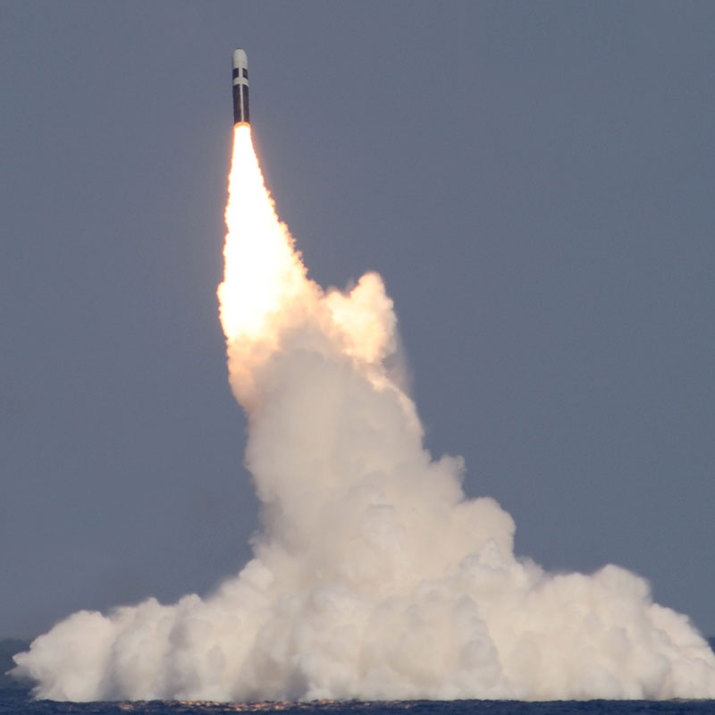 First flight of the new MK6 MOD 1 Guidance System designed by Draper occurred on Demonstration and Shakedown Operations (DASO) 23 off SSBN 734 on 22 February 2012. (Photo credit: U.S. Navy)