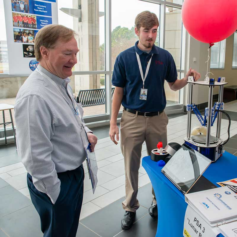 Draper awarded $3,000 to the University of Alabama at Huntsville to support its InSPIRESS program for high school and college students. (Credit: University of Alabama at Huntsville)