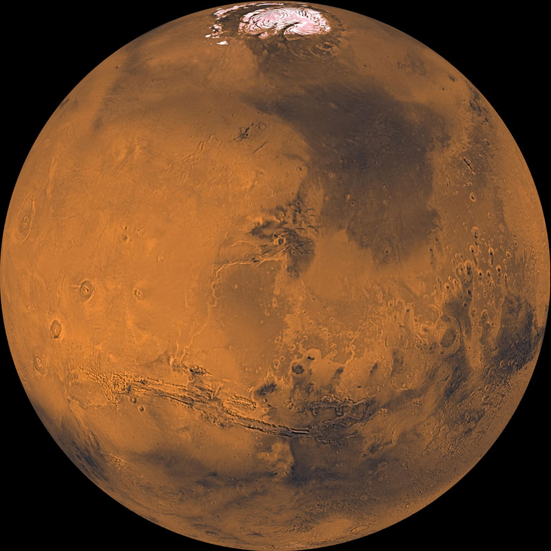 The satellite Aeolus is scheduled for a trip to Mars in 2022 to understand the atmosphere, climate and energy balance of the red planet. Photo credit: NASA.