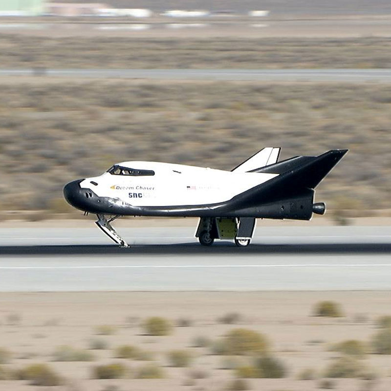 Sierra Nevada Corporation's (SNC) Dream Chaser spacecraft had a successful free-flight test on November 11, 2017 at Edwards Air Force Base, with support of NASA's Armstrong Flight Research Center. Credit: NASA