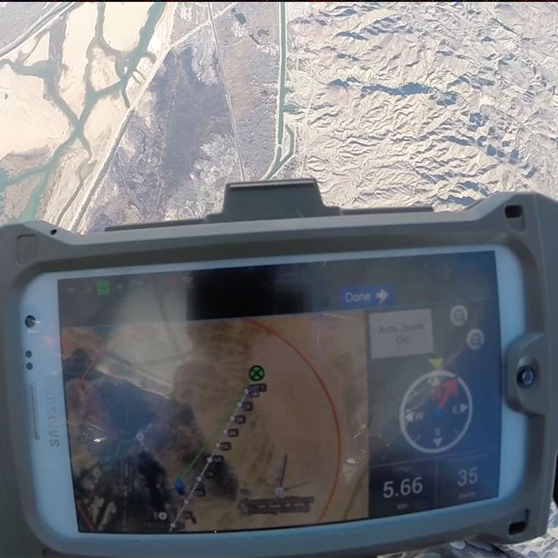 A smartphone app developed by Draper is designed to help military parachutists land with higher accuracy. (Photo credit: U.S. Army)