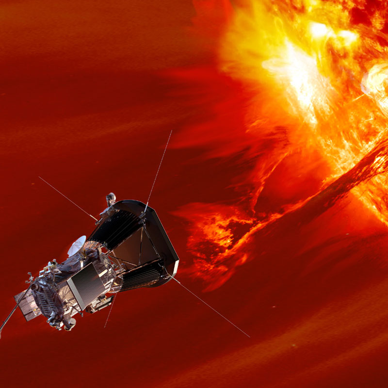 NASA's Solar Probe Plus will enter the sun's corona to understand space weather using a Faraday cup developed by the Smithsonian Astrophysical Observatory and Draper. Image credit: NASA/Johns Hopkins University Applied Physics Laboratory