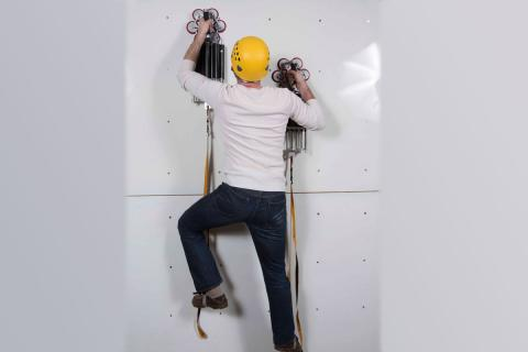 Draper's new wall-climbing system makes climbing glass and other challenging surfaces possible.