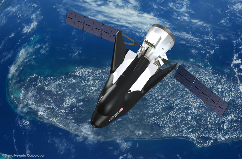 Sierra Nevada Corporation's Dream Chaser® spacecraft, pictured here in an artist's rendering, features technology provided by Draper. The two companies signed a new agreement to explore additional missions related to Dream Chaser. (Photo: SNC)
