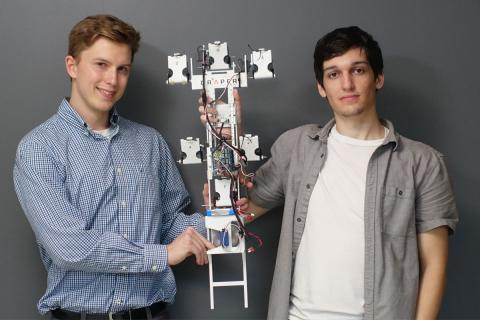 Draper's summer interns built a robot that can climb a glass wall. Mobile robots can be deployed in fields like logistics, energy and manufacturing to access remote locations too dangerous for humans.